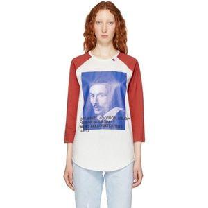 Off-White Red and White Bernini Raglan T-Shirt